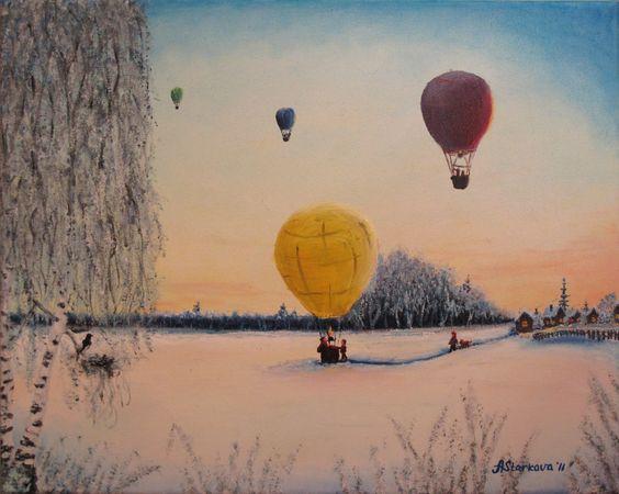 Sunset Visitors by Anna Starkova