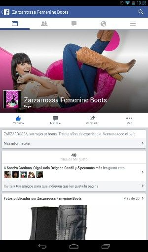 https://www.facebook.com/pages/Zarzarrossa-Femenine-Boots/589674284453647. Las mejores botas.  Síguelas en Facebook.