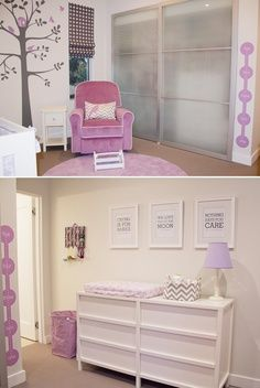 Modern and Sweet Baby Girl Nursery Decorating Ideas… the color scheme I like for baby girl @Jarred Bishop Bishop Hamilton | best stuff