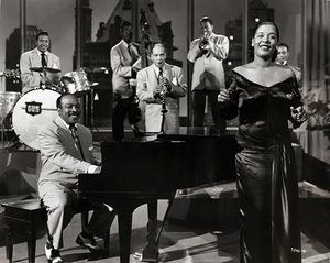 American jazz musician Count Basie and  singer Billie Holiday, 1951