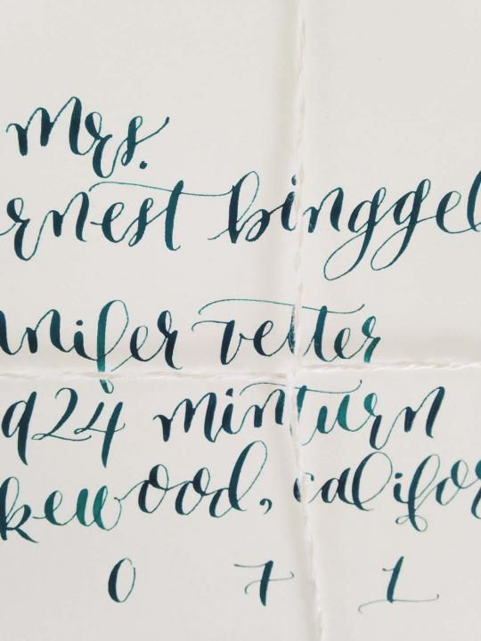 Calligraphy by mon voir wedding style inspiration lane