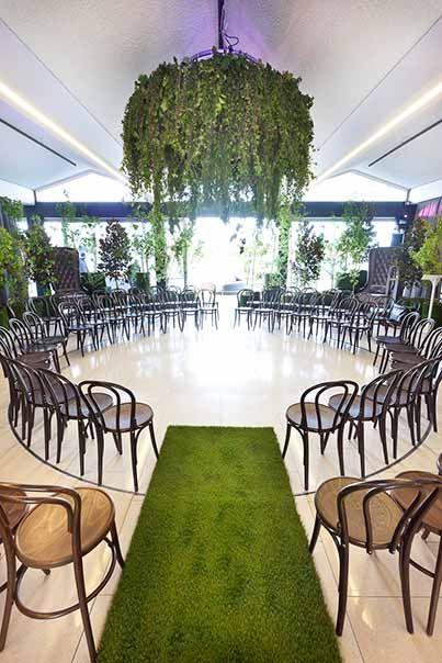 Wedding ● Ceremony Decorations ● Round seating set up