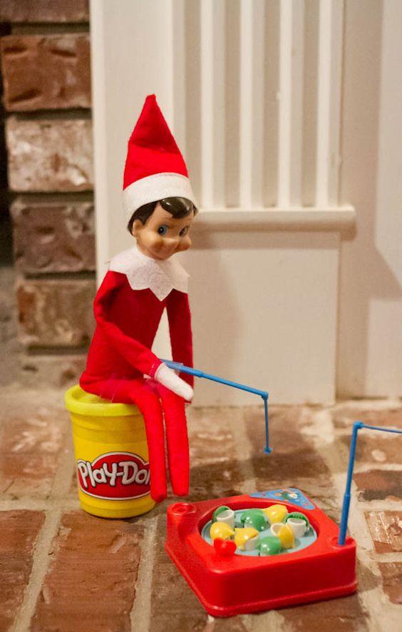 Elf on the shelf on the shelf and elves on pinterest for Elf on the shelf fishing