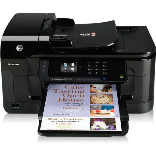 HP OfficeJet 6500A Plus Wireless e-All-in-One Color Inkjet Printer