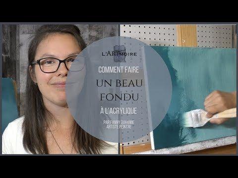 Comment Faire Un Fondu A L Acrylique Technique Humide Sur Humide