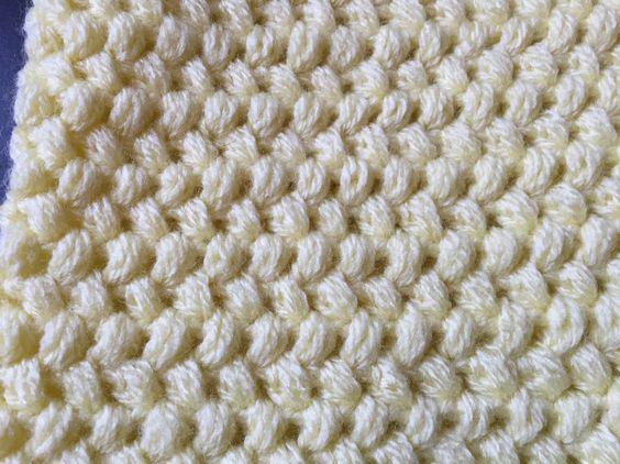 Popcorn crochet and montres on pinterest - Point tricot fantaisie pour echarpe ...