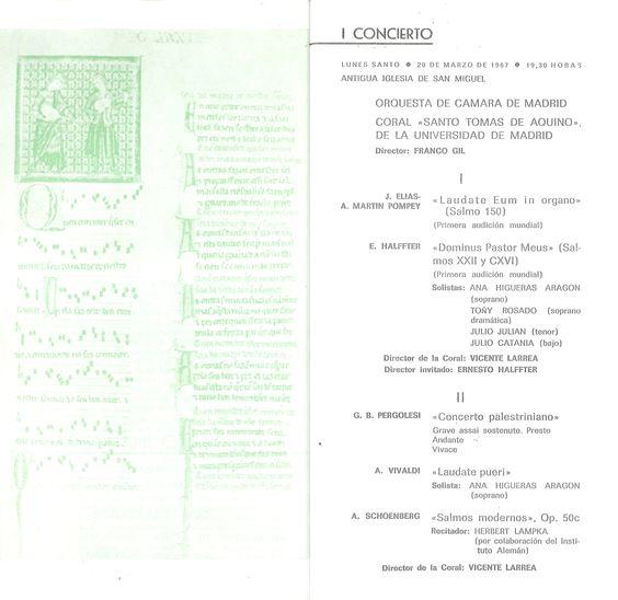 Primer concierto de la VI Semana de Música Religiosa de Cuenca Obras de Vivaldi, Pergolesi y el estreno mundial de una obra coral de Ernesto Halffter