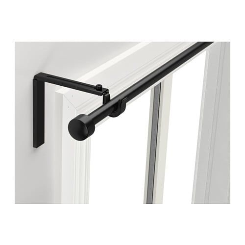 Racka Curtain Rod Combination Black 47 1 4 82 5 8 Ikea