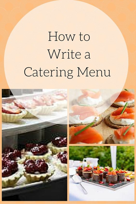 How to Professionally Cater Events and Menu Planning