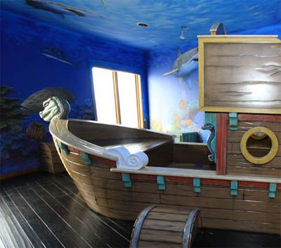 Pirates kid bedrooms and craft kids on pinterest for Kids pirate room