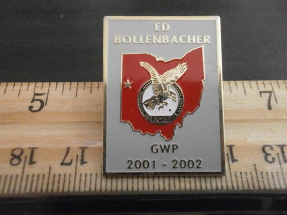 F O E PIN Fraternal Order OF Eagles ED Bollenbacher GWP | eBay