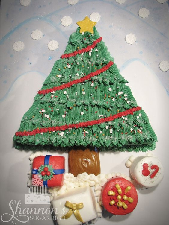 Decorating Cake Pops With Buttercream : Christmas tree chocolate sheet cake iced in vanilla ...