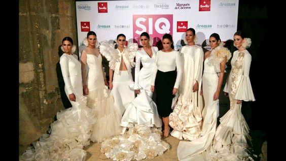 Vicky Martin Berrocal arranca SIQ, Sevilla Handcraft&Fashion con un desfile espectacular de novia y fiesta