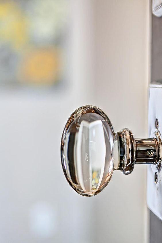 Beautiful glass doorknob clark and company i call for Beautiful door handles