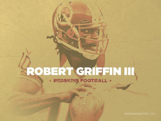 Robert Griffin III (RG3/RGIII), Washington Redskins @ designingsport.com