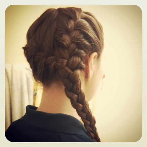 Side French braid pigtails into single braid | Purties ...
