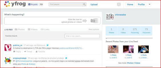 Yfrog.com  Servicio de microblogging propio que permite subir fotos y conectar la cuenta directamente a Twitter
