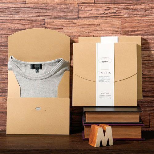 Tシャツ梱包箱【オビシールテンプレート】