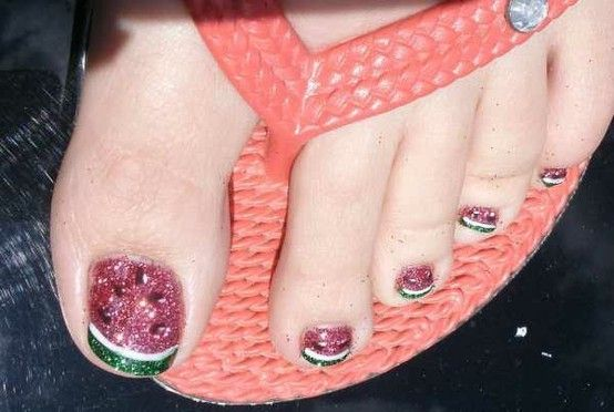 watermelon pedicure by tasha