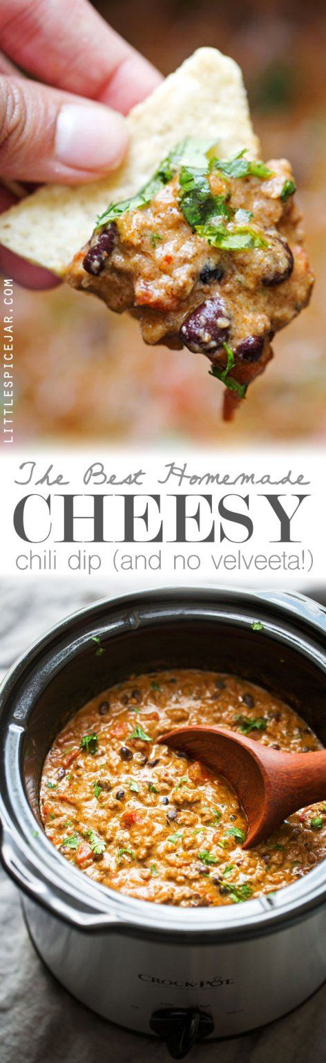 The BEST Cheesy Chili Dip - made with a homemade taco seasoning and NO ...