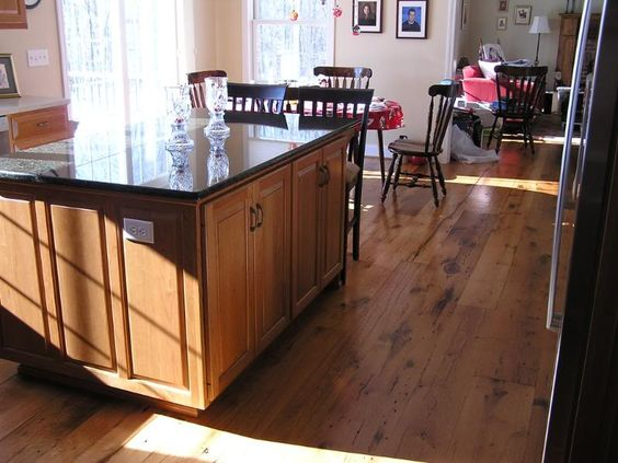 Hardwood Floor That Matches Maple Kitchen Cabinets
