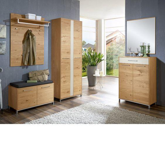 Voss Garderobe Vedo Set 01 Absetzung mattglas weiß Diele - den flur geschmackvoll gestalten ideen fur exklusive design flurmobel