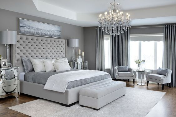 Glam Master Bedroom - Kimmberly Capone Interior Design #luxurymasterbedroomsuitesdesignsandinteriors