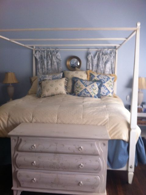 Ethan Allen Swedish Bed From CL At 75% Off, Bedding From A Model Home Sale  For $200, Swedish EA Dresser From Someone Else On CL, Mirror Originally U2026