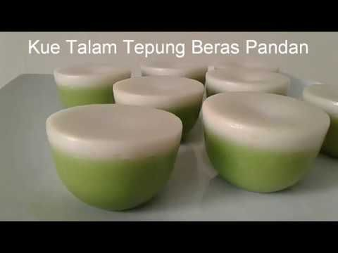 Resep Kue Talam Tepung Beras Pandan Lembut Manis Dan Gurih Youtube Resep Kue Resep Pudding Desserts