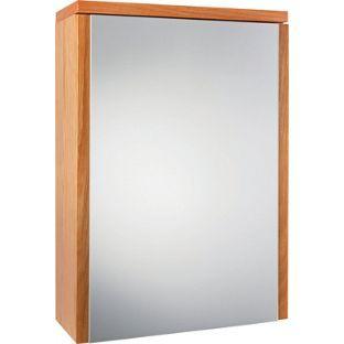 montana single swivel mirror door bathroom cabinet oak from homebase