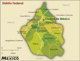 mapa de mexico df delegaciones del df 263x200