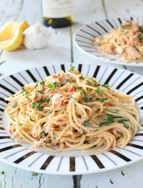 crab linguine - this pasta dish is so quick and easy to make and so ...