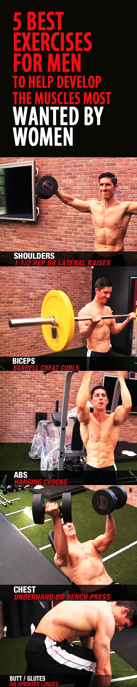 5 best exercises for men to help develop the muscles most WANTED BY WOMEN. #musclebuilding