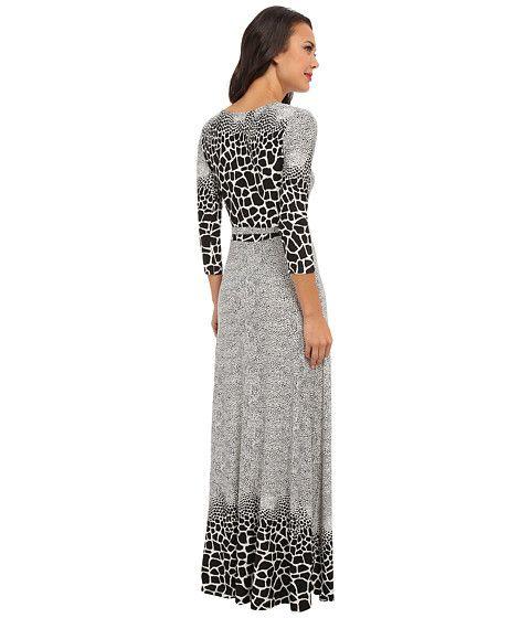 Brigitte Bailey Print Wrap Maxi Dress