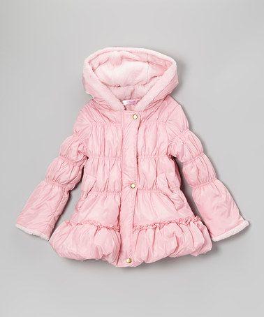 Girls Pink Puffer Coat Coat Nj