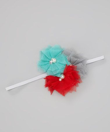 Take a look at this Red Triple Blossom Headband by Chicaboo on #zulily today!