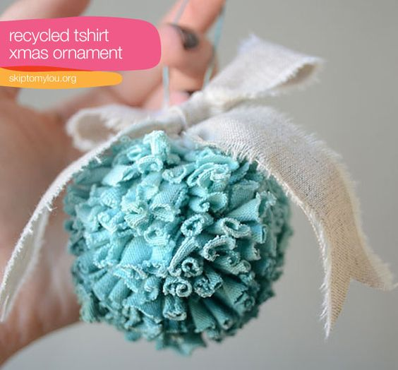 Recycled T-shirt Ornament