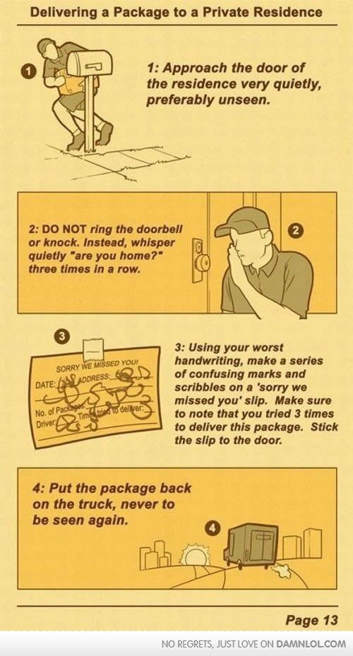 Ups Training Manual  Things I Like    Funny Pictures