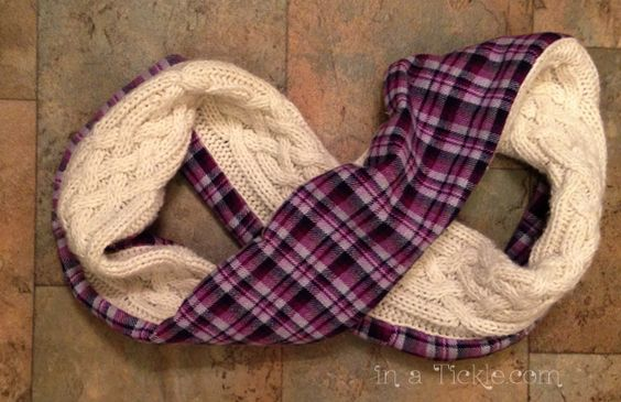 Scarves From Old Sweaters   Sweater to Leg Warmers and Scarf Transformation