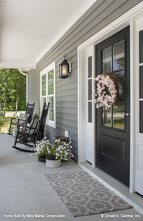 Front Porch Of The Gentry House Plan 977 Built By Mike Maher