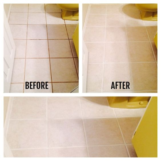 How i transformed my bathroom floors for under 12 good for How do you clean white grout
