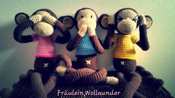 Affen * chimpanse * monkey * gehäkelt * crochet  https://www.facebook.com/fraeuleinwollwunder