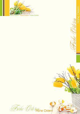 #Briefpapier Frohe #Ostern mit Frühjahrsblumen