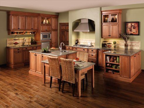 Refinish Golden Oak Cabinets With Darker Glaze Gun Metal Hardware For The Home Pinterest