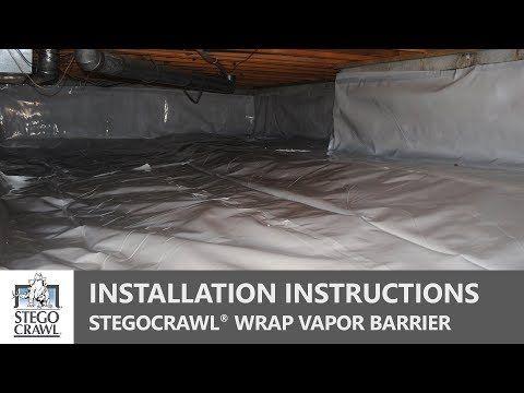 Crawl Space Vapor Barrier Installation A Step By Step Guide Youtube Crawl Space Vapor Barrier Crawlspace Installation