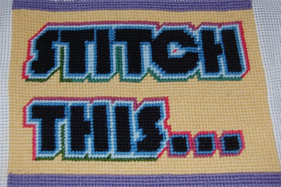 one of the many cross stitch tapestries i've done