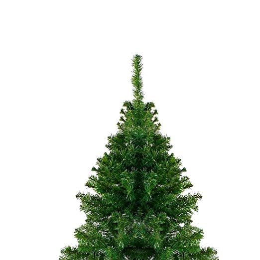 7 5 Ft Premium Christmas Tree Easy Assembly Artificial Evergreen Christmas Tree With Solid Metal Leg Cool Christmas Trees Christmas Tree Simple Christmas Tree