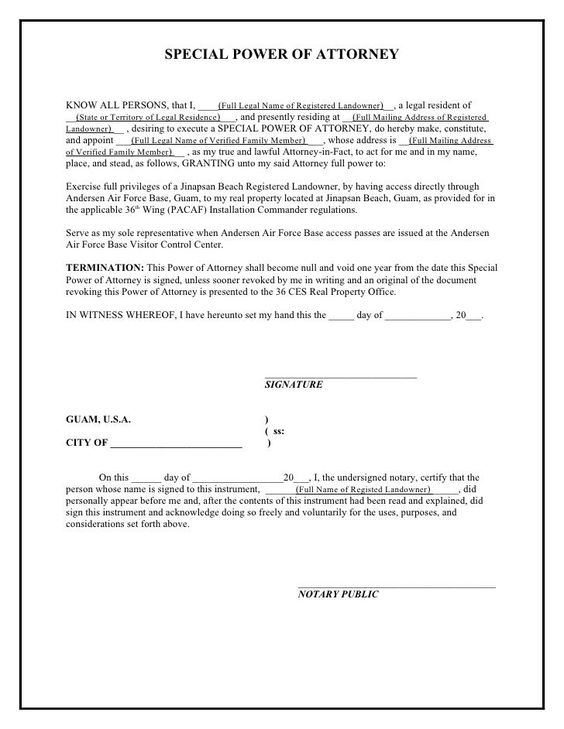 Printable Sample Power Of Attorney Template Form Real Estate - attorney invoice template