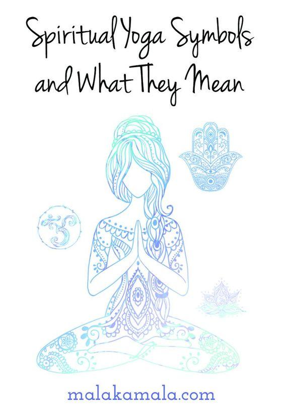 Spiritual Yoga Symbols and What They Mean | Yoga, Symbole und ...