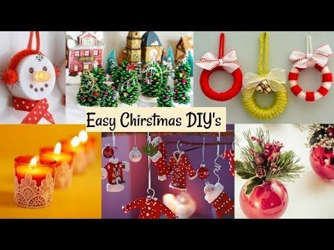 Best Out Of Waste Diy Christmas Decoration Ideas Youtube Diy Christmas Ornaments Easy Christmas Decor Diy Diy Christmas Ornaments